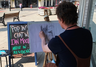 'Falling in love with the characters. Buying local from your community.' - Ian Mood, Newcastle Common Artist in Residence